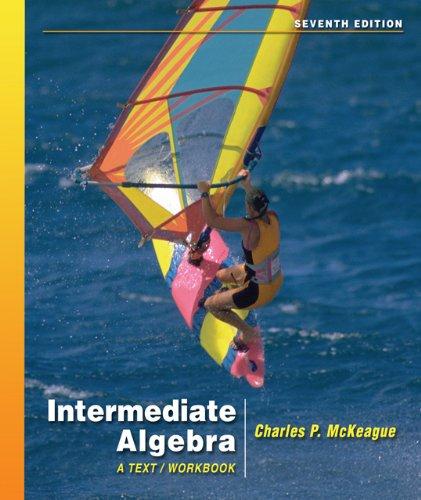 Intermediate Algebra  7th 2007 (Workbook) 9780495108993 Front Cover