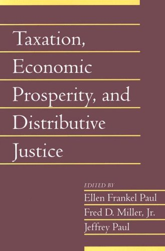 Taxation, Economic Prosperity, and Distributive Justice   2006 9780521685993 Front Cover