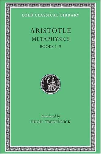 Aristotle Metaphysics  1933 edition cover