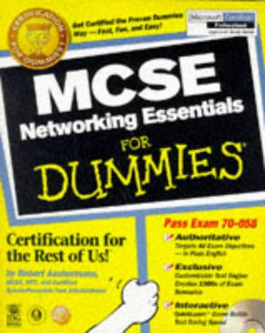 MCSE Networking Essentials for Dummies   1998 9780764503993 Front Cover