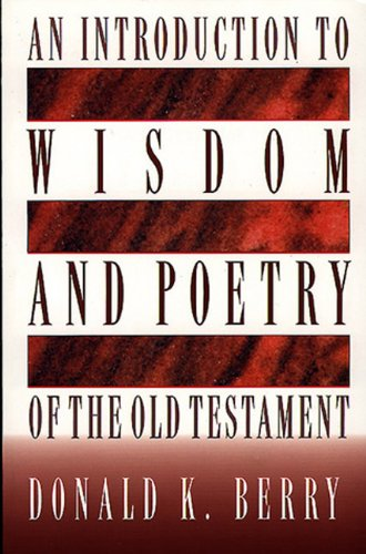 Introduction to Wisdom and Poetry of the Old Testament   1999 edition cover