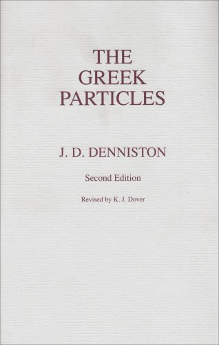 Greek Particles  2nd (Reprint) edition cover