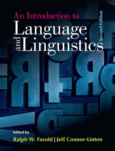 Introduction to Language and Linguistics  2nd 2014 9781107637993 Front Cover