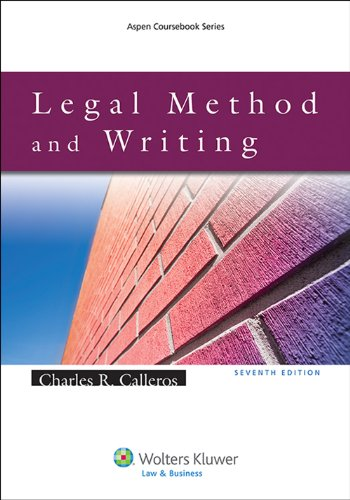 Legal Method and Writing  7th 2014 edition cover