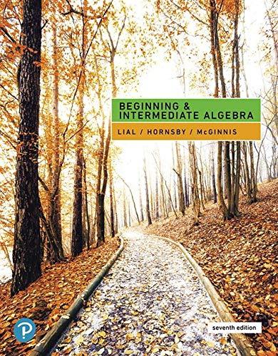 Beginning and Intermediate Algebra:   2019 9780134895994 Front Cover
