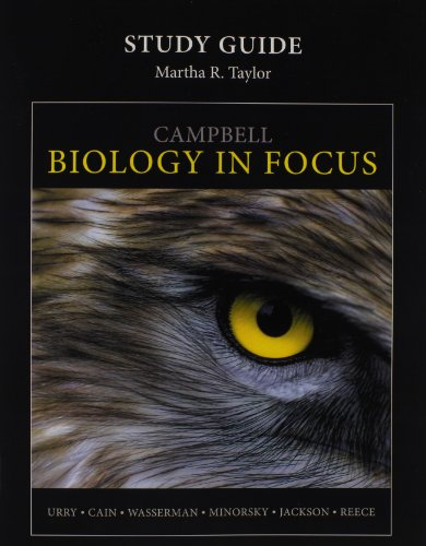 Study Guide for Campbell Biology in Focus   2014 edition cover