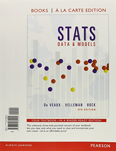Stats: Data and Models, Books a La Carte Edition  2015 edition cover