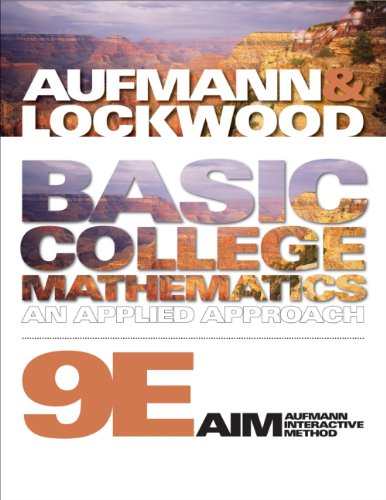 Basic College Mathematics  9th 2011 (Student Manual, Study Guide, etc.) 9780538493994 Front Cover