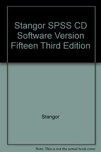 Stangor Spss Cd Software Version Fifteen Third Edition  3rd 2007 9780547006994 Front Cover