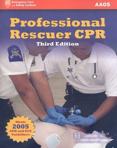 Professional Rescuer CPR  3rd 2007 (Revised) 9780763772994 Front Cover