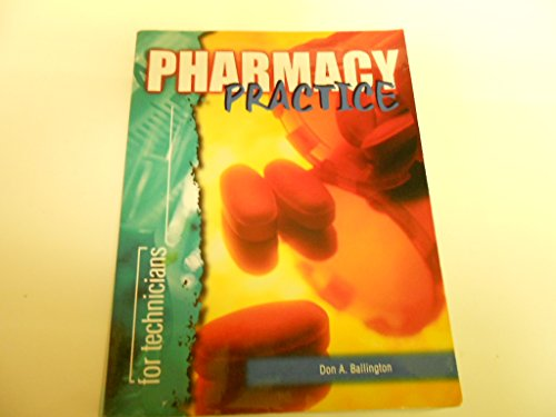 Pharmacy Practice for Technicians  N/A 9780763800994 Front Cover