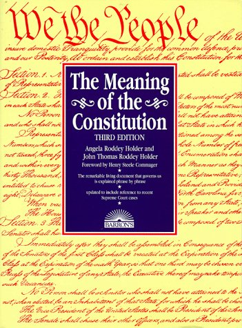 Meaning of the Constitution  3rd 1997 edition cover