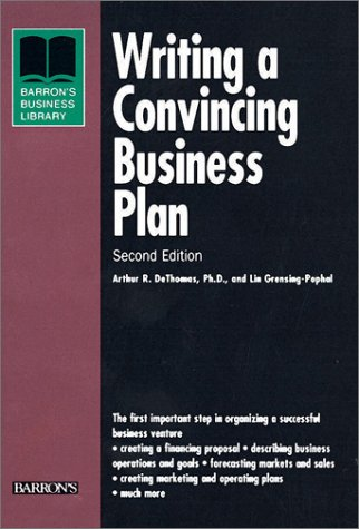 Writing a Convincing Business Plan  2nd 2001 9780764113994 Front Cover