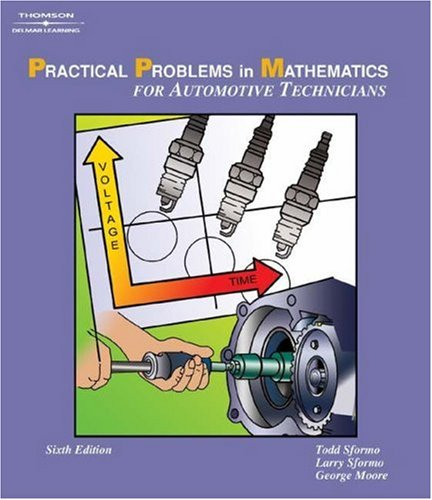 Practical Problems in Math for Automotive Technicians  6th 2005 (Revised) 9781401839994 Front Cover