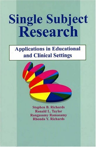 Single-Subject Research Application in Educational and Clinical Settings  1999 edition cover