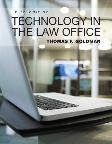 Technology in the Law Office  3rd 2013 (Revised) edition cover