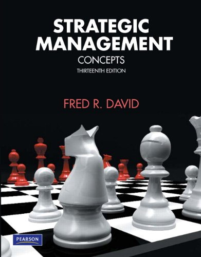Strategic Management Concepts 13th 2011 edition cover