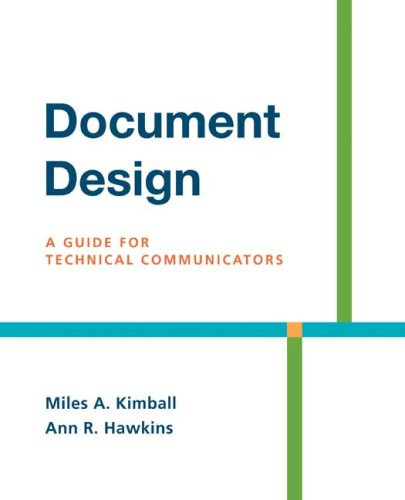 Document Design A Guide for Technical Communicators  2008 edition cover