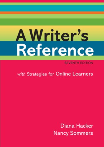 Writer's Reference with Strategies for Online Learners 7th 2011 edition cover