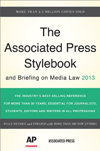 Associated Press Stylebook 2013  46th 2013 9780465082995 Front Cover