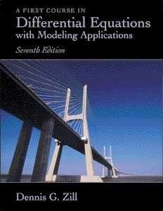 First Course in Differential Equations with Modeling Applications  7th 2001 edition cover