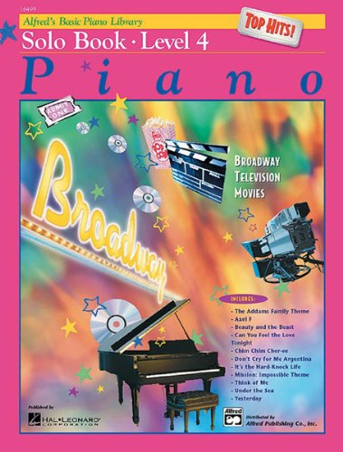 Alfred's Basic Piano Course Top Hits! Solo Book, Bk 4 Level 4  1999 edition cover