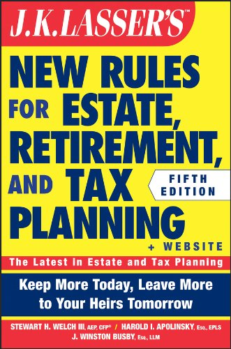 JK Lasser's New Rules for Estate, Retirement, and Tax Planning  5th 2015 9781118929995 Front Cover
