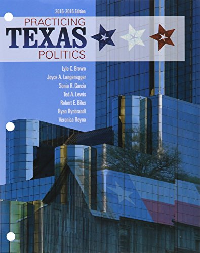 Bundle: Practicing Texas Politics, 2015-2016, 16th + LMS Integrated for MindTap Political Science, 1 Term (6 Months) Printed Access Card  16th 2016 9781305774995 Front Cover