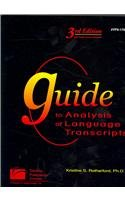 Guide to Analysis of Language Transcripts (3rd Edition) Tpx1704  2007 edition cover