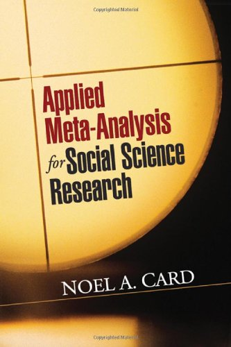 Applied Meta-Analysis for Social Science Research   2012 edition cover