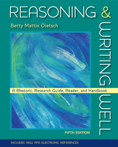 Reasoning and Writing Well  5th 2009 edition cover