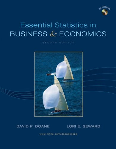 Essential Statistics in Business and Economics  2nd 2010 9780078007996 Front Cover