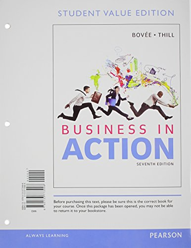 Business in Action, Student Value Edition  7th 2015 edition cover