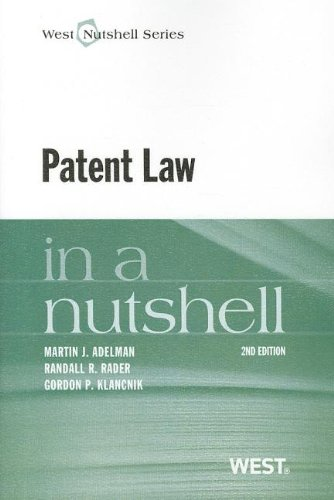 Patent Law  2nd 2013 (Revised) 9780314279996 Front Cover