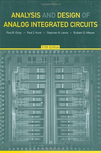 Analysis and Design of Analog Integrated Circuits  5th 2009 edition cover
