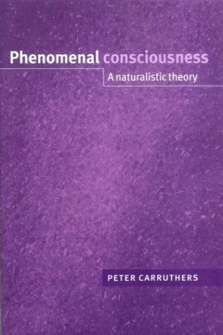 Phenomenal Consciousness A Naturalistic Theory  2003 9780521543996 Front Cover
