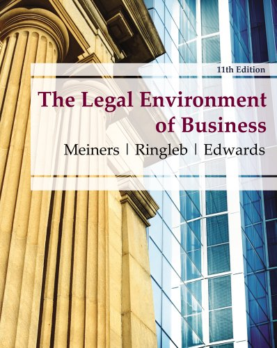 Legal Environment of Business  11th 2012 9780538473996 Front Cover