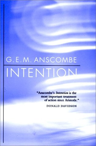 Intention  2nd 1963 edition cover