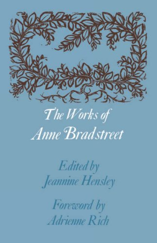 Works of Anne Bradstreet   1967 edition cover