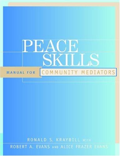 Peace Skills Manual for Community Mediators  2001 edition cover