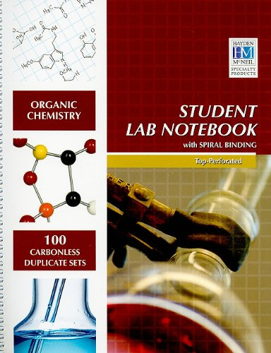 Organic Chemistry Student Lab Notebook N/A edition cover