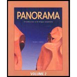 Panorama 3/E Student Edition W/Supersite Passcode Volume 2 (Lessons 8-15)  3rd (Student Manual, Study Guide, etc.) edition cover
