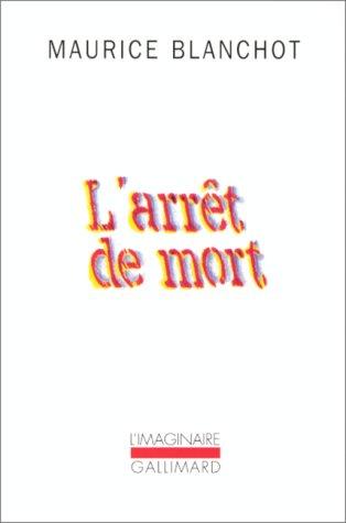 Arret de Mort 1st edition cover