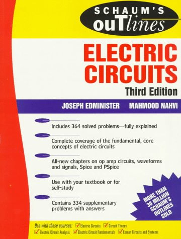 Schaum's Outline of Electric Circuits 3rd 1995 edition cover