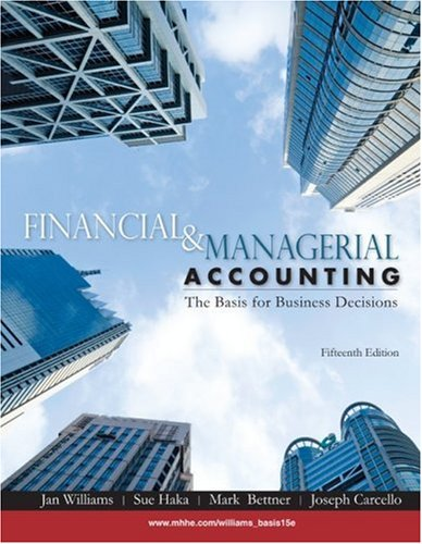 Financial and Managerial Accounting  15th 2010 edition cover