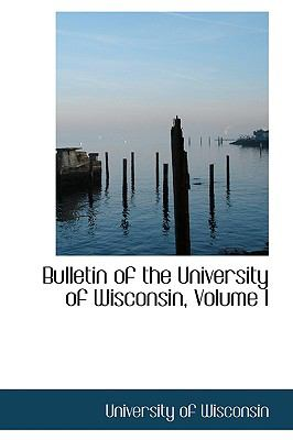 Bulletin of the University of Wisconsin N/A edition cover