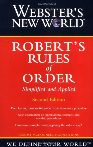 Robert's Rules of Order Simplified and Applied 2nd 2001 (Revised) edition cover