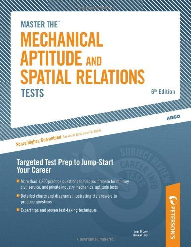 Mechanical Aptitude and Spatial Relations Test 6th 2004 9780768916997 Front Cover