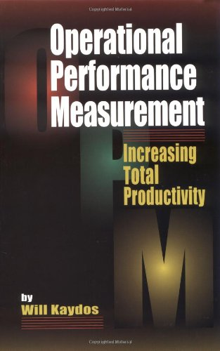 Measuring Performance to Increase Total Productivity   1998 edition cover