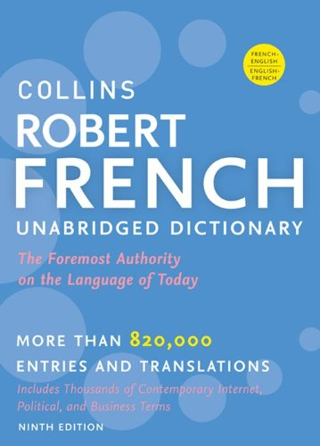 Collins Robert French Unabridged Dictionary, 9th Edition  9th 2012 edition cover